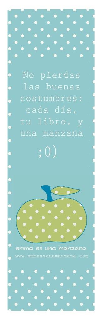 Cada día, tu libro, y una manzana.