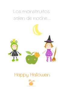 Happy Halloween, por Emma es una manzana