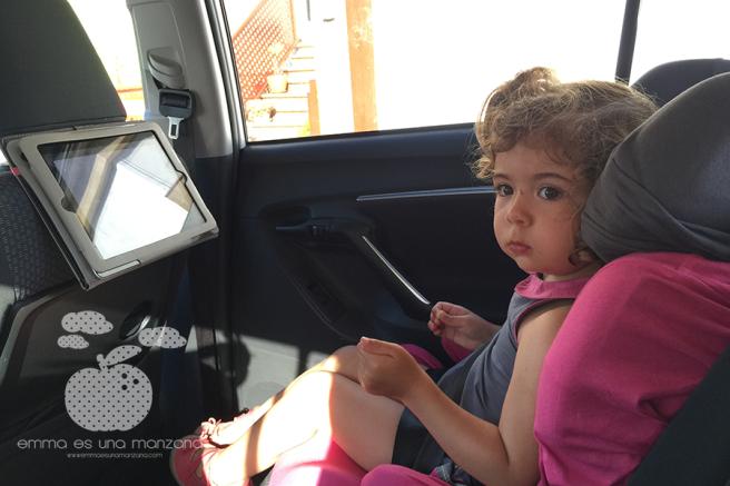 Viajar en coche con niños - iPad