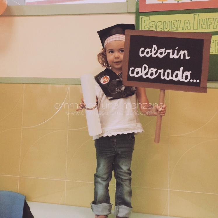 Último día en el cole de pequeños - graduación